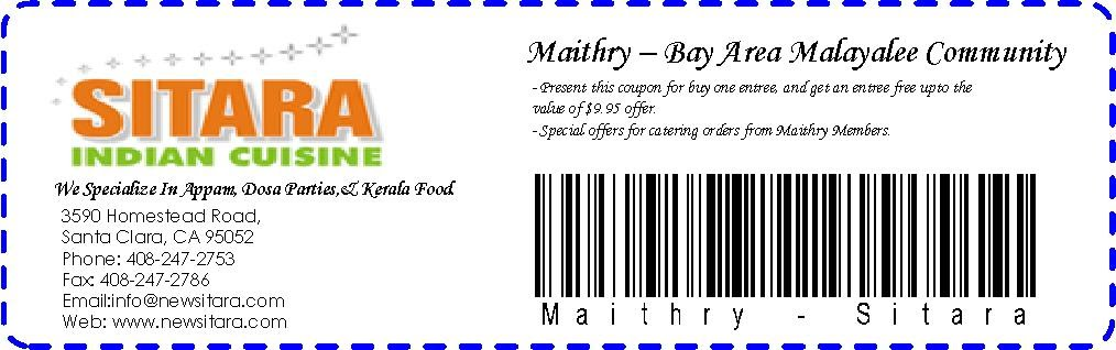 Sitara Exclusive coupon for Maithry